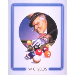 "Plakat ""W.C. Fields Top Hat"" 61x76cm"