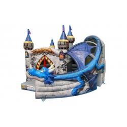 Dmuchany plac zabaw - komercyjny - Smok na zamku