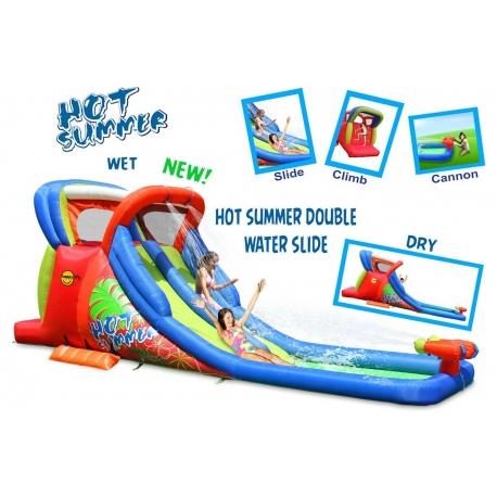 Dmuchana podwójna zjeżdżalnia wodna - Hot Summer