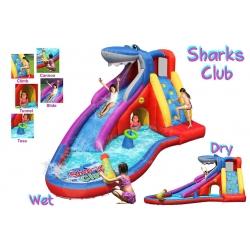 Dmuchana zjeżdżalnia wodna Happy Hop - Shark