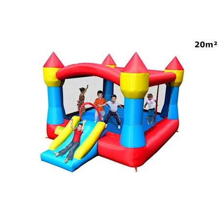 Dmuchany zamek ze zjeżdżalnią XXL Happy Hop