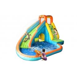 Dmuchaniec Happy Hop - zjeżdżalnia wodna z basenem i armatką