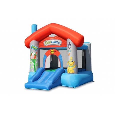 Dmuchany domek Happy Hop - Fun House - czerwony