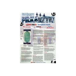 Plakat z przepisami gry w piłkarzyki 48x68cm